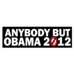 Anybody but Obama Sticker (Bumper 10 pk)