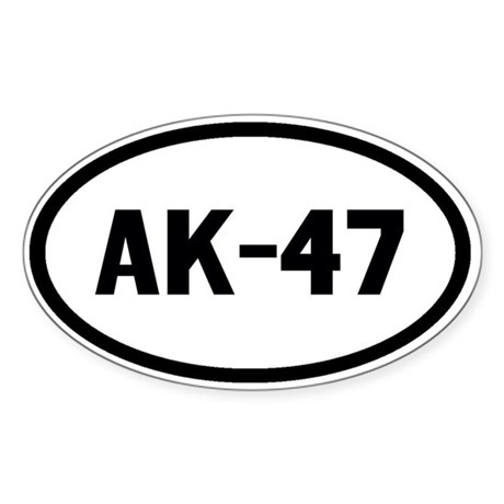 AK-47 Sticker (Oval)