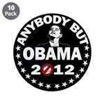 """Anybody but Obama 3.5"""" Button (10 pack)"""