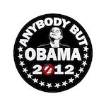 "Anybody but Obama 3.5"" Button"
