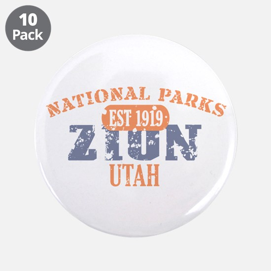 "Zion National Park Utah 3.5"" Button (10 pack)"