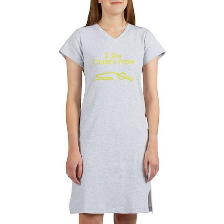 Yellow Child's Pose Women's Nightshirt