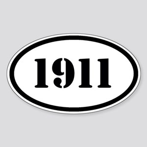 1911 Sticker (Oval)