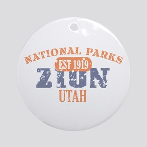 Zion National Park Utah Ornament (Round)