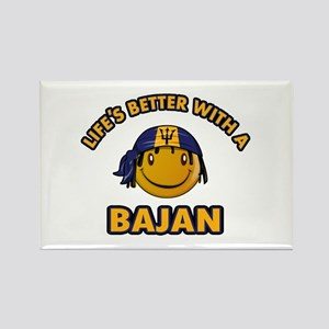 Life's better with a Bajan Rectangle Magnet
