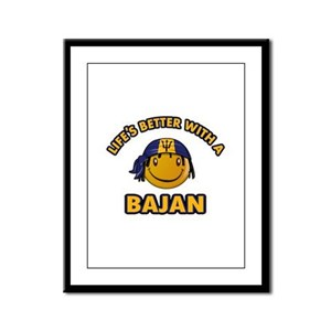 Life's better with a Bajan Framed Panel Print