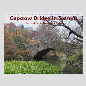 Gapstow Bridge In Seasons Wall Calendar