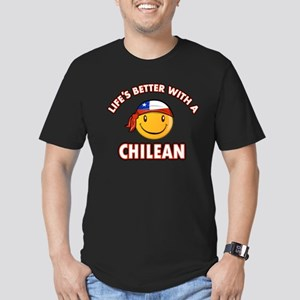 Life's better with a Chilean Men's Fitted T-Shirt