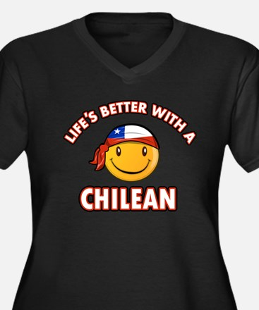 Life's better with a Chilean Women's Plus Size V-N