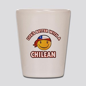 Life's better with a Chilean Shot Glass