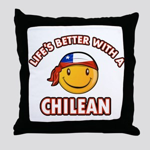 Life's better with a Chilean Throw Pillow