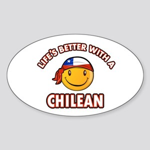 Life's better with a Chilean Sticker (Oval)