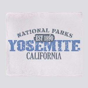 Yosemite National Park Califo Throw Blanket