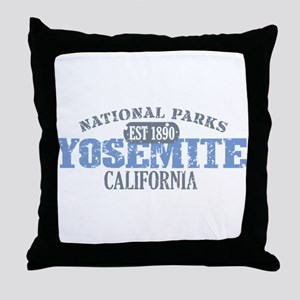Yosemite National Park Califo Throw Pillow