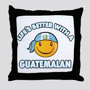 Life's better with a Guatemalan Throw Pillow