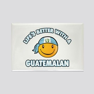 Life's better with a Guatemalan Rectangle Magnet