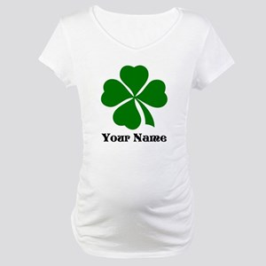Personalized St Patrick's Day Maternity T-Shirt