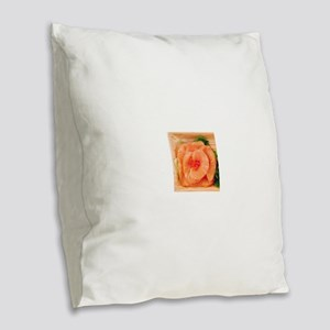 Salmon Sashimi 4Shuko Burlap Throw Pillow