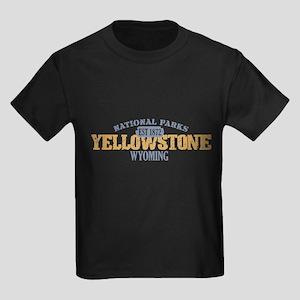 Yellowstone National Park WY Kids Dark T-Shirt