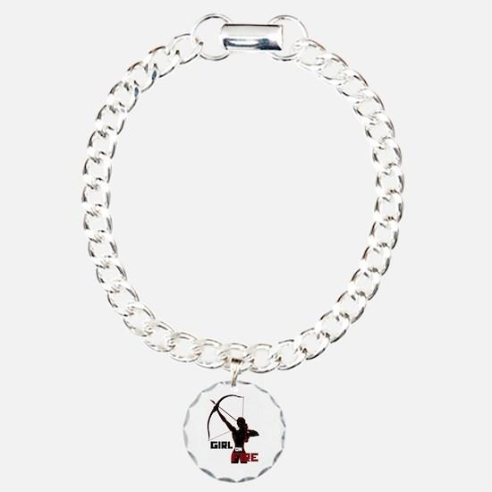 Katniss Girl on Fire Bracelet