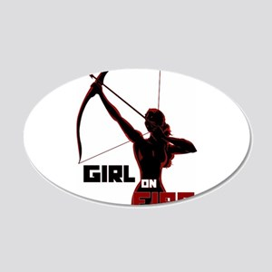 Katniss Girl on Fire 22x14 Oval Wall Peel