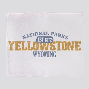 Yellowstone National Park WY Throw Blanket