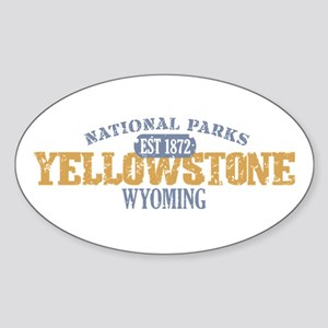 Yellowstone National Park WY Sticker (Oval)