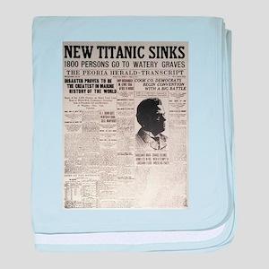 New Titanic Sinks baby blanket