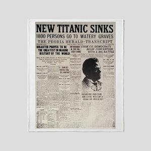 New Titanic Sinks Throw Blanket