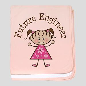 Future Engineer Girl baby blanket