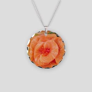 Salmon Sashimi 4Shuko Necklace Circle Charm