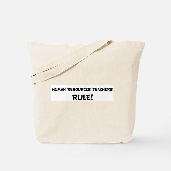 HUMAN RESOURCES TEACHERS Rule Tote Bag