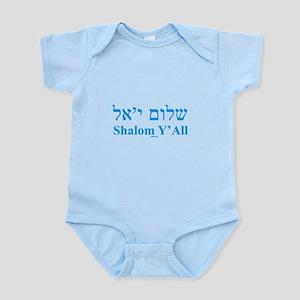 Shalom Y'All English Hebrew Infant Bodysuit
