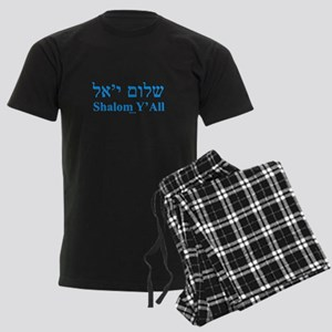 Shalom Y'All English Hebrew Men's Dark Pajamas