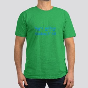 Shalom Y'All English Hebrew Men's Fitted T-Shirt (