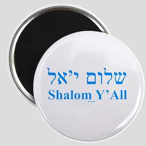 Shalom Y'All English Hebrew Magnet