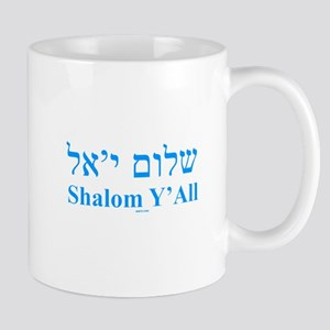 Shalom Y'All English Hebrew Mug