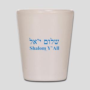 Shalom Y'All English Hebrew Shot Glass