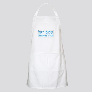 Shalom Y'All English Hebrew Apron