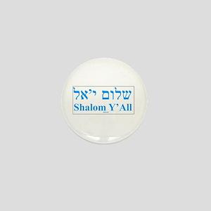 Shalom Y'All English Hebrew Mini Button