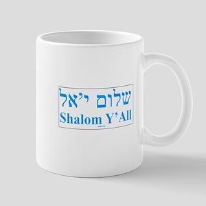 Shalom Y'All English Hebrew Mug