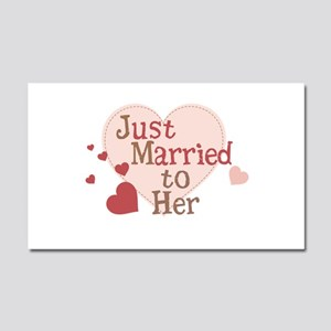 Groom Just Married Car Magnet 20 x 12