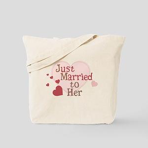 Groom Just Married Tote Bag