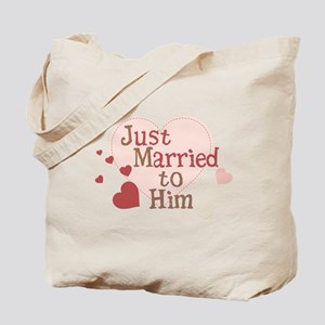 Just Married to Him Tote Bag