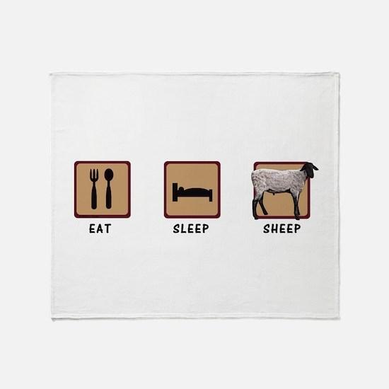 Eat Sleep Sheep Throw Blanket