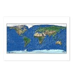 Wold Map Equidistant 3: Postcards (Package of 8)