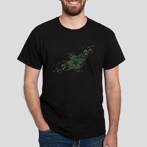 Elegant Shamrock Dark T-Shirt