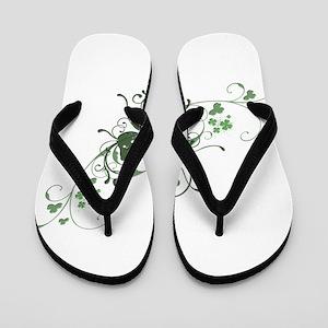 Elegant Shamrock Flip Flops