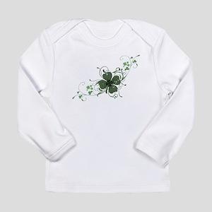 Elegant Shamrock Long Sleeve Infant T-Shirt