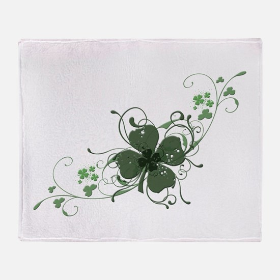 Elegant Shamrock Throw Blanket